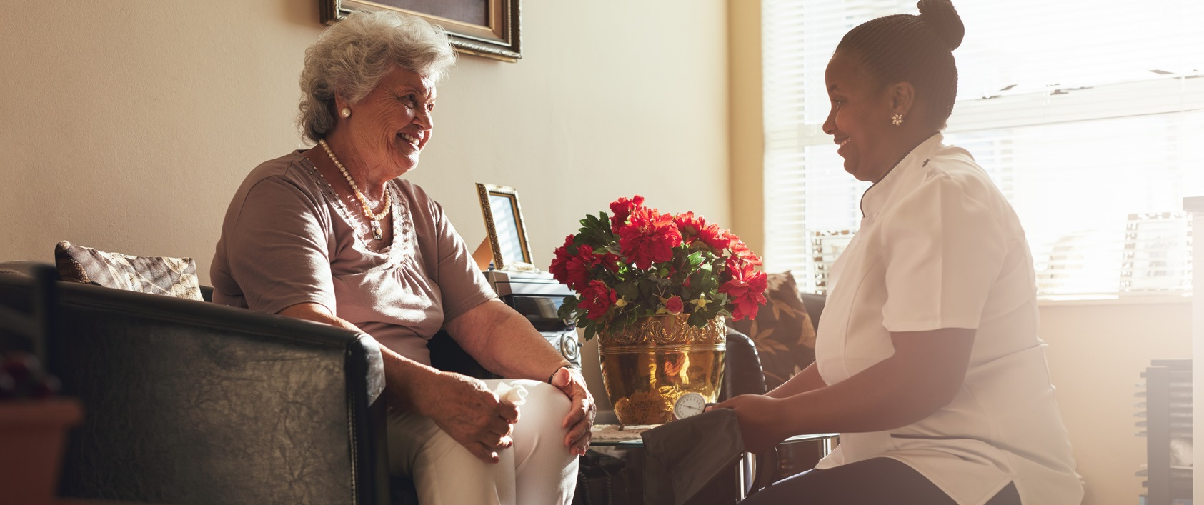 Home Health Aide with Woman